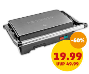 Penny 27.5.2020: Progress Megastone 2-in-1 Kontaktgrill im Angebot