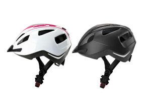 CRIVIT® Damen Herren Fahrradhelm extrem leicht mit Rücklicht 11 Luftkanäle 6 LED