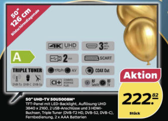 50U5008M 50-Zoll UHD-TV Fernseher