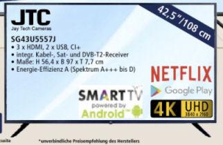 Bild von JTC SG43U5557J Ultra-HD Fernseher bei Real 5.10.2020 – KW 41