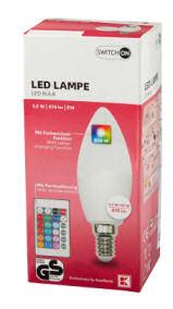 Switch On LED-Kerze RGB E14
