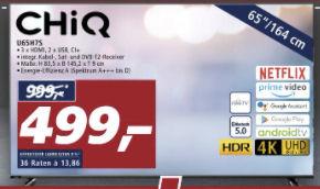Bild von Chiq U65H7S 65-Zoll Ultra-HD Fernseher bei Real 18.1.2021 – KW 3