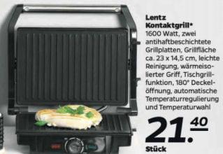 Bild von Netto: Lentz Kontaktgrill im Angebot 5.10.2020 – KW 41