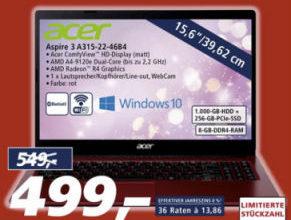 Bild von Acer Aspire 3 A315-22-46B4 15,6-Zoll Notebook bei Real 30.11.2020 – KW 49