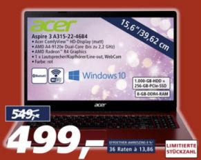 Acer Aspire 3 A315-22-46B4 15,6-Zoll Notebook