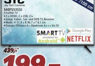Bild von JTC S40F55353J 40-Zoll Full-HD Fernseher bei Real 30.11.2020 – KW 49
