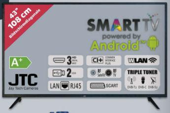 JTC S43F4349MQ 43-Zoll Full-HD Smart-TV Fernseher