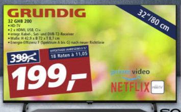 Bild von Real 8.3.2021: Grundig 32 GHB 200 Fernseher im Angebot