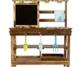 Bild von Lidl 8.3.2021: Playtive Holzspielküche mit Kreidetafel im Angebot