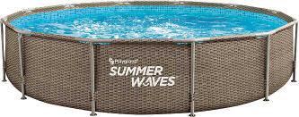 Polygroup Summer Waves Metallrahmenpool Rattanlook