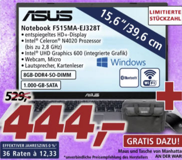 Asus F515MA-EJ328T 15,6-Zoll Notebook