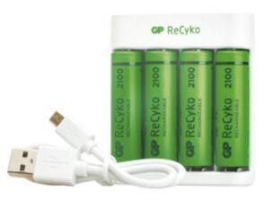 GP Recyko USB-Akku-Ladegerät
