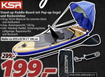 KSR Stand-up-Paddle-Board mit Segel