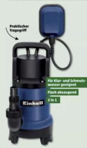 Einhell 2-in-1 Kombi-Tauchpumpe