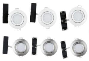 Livarno Home 3 LED-Einbauleuchten