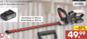 Scheppach CHT510-20Li Akku-Heckenschere